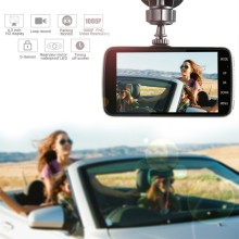 4″ HD 1080P Car DVR Dual Lens Camera Video Recorder Rearview Dash Cam G-sensor