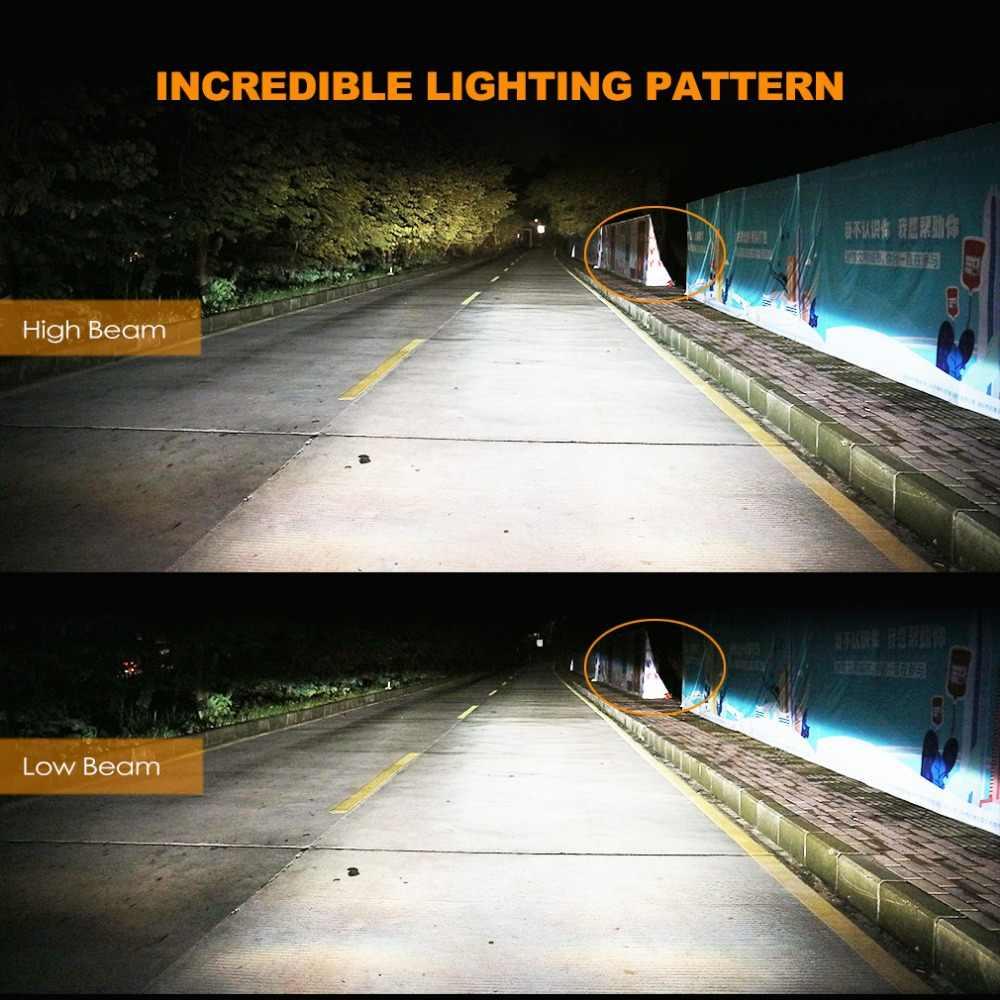 2Pcs H4 LED H7 H11 H8 9006 HB4 H1 H3 HB3 H9 H27 Car Headlight Bulbs LED Lamp with COB Chips 8000LM Auto Fog Lights 6000K 12V