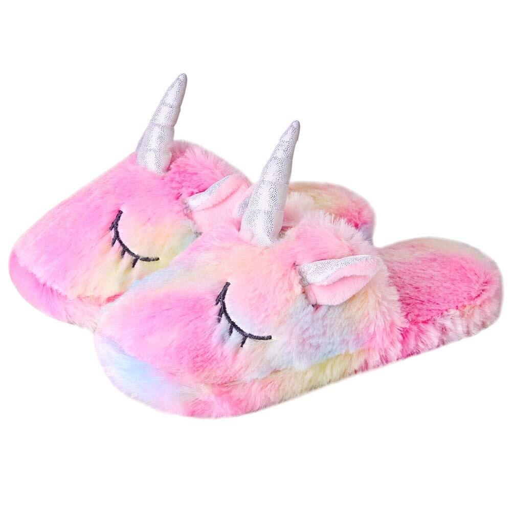 Slippers Kids Family Unicorn Slippers Household Anti-Slip Indoor Home Slippers For Girls And Boys