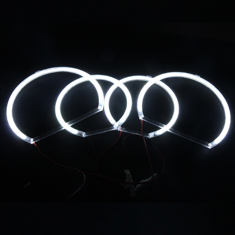 For Bmw E53 X5 SUV 2000-2003 Xenon White SMD LED Angel Eyes Halo Ring Kit W/ Relay Harness Error Free Headlight Fog Daylights carprie super drop ship new 2 x canbus error free white t10 5 smd 5050 w5w 194 16 interior led bulbs mar713