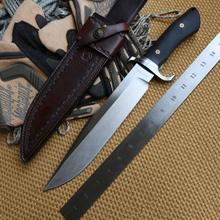 Bolte black bear DC53 Blade material G10 handvat Lederen schede fixed blade jacht grote mes survival EDC messen geree