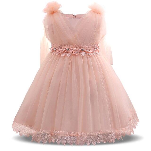 Süße Rosa Prinzessin Baby Tüll Kleid Mädchen Infant Kleinkind Taufe ...