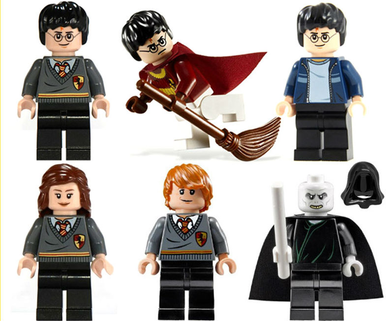 Mini Harry Potter and the Philosopher's Stone Building Toy Hermione Ron Weasle Lord Voldemort compatible with lego