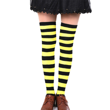 Women's Cotton Over Knee Striped Socks