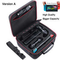 NintendoSwitch Case Nintend Switch Accessories Big Storage Carrying Bag & Nitend Switch Hard Shell Skin for Nintendo_Switch Game
