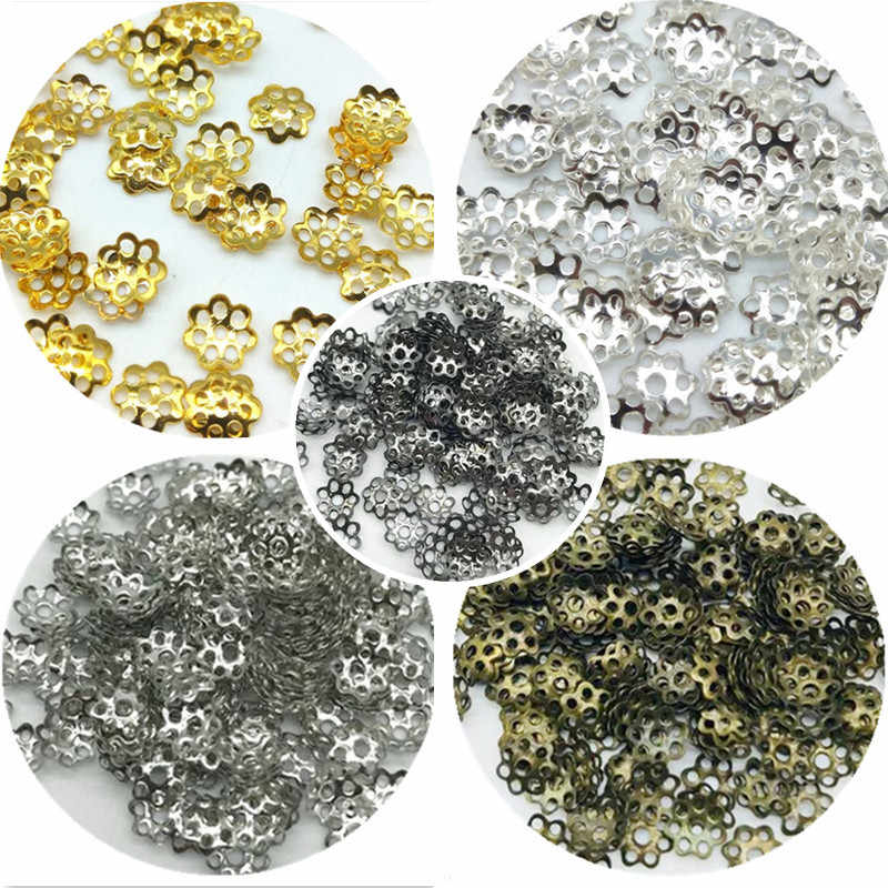 6mm 100pcs/lot  Jewelry Findings Flower Hat Isolation Jewelry Beads DIY Jewelry Accessories for Necklace Accessories Wholesale