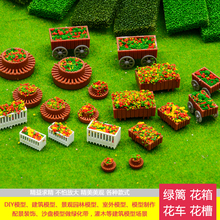 Architecture model making train layout HO N OO scale Model material DIY hand outdoor environment flower box