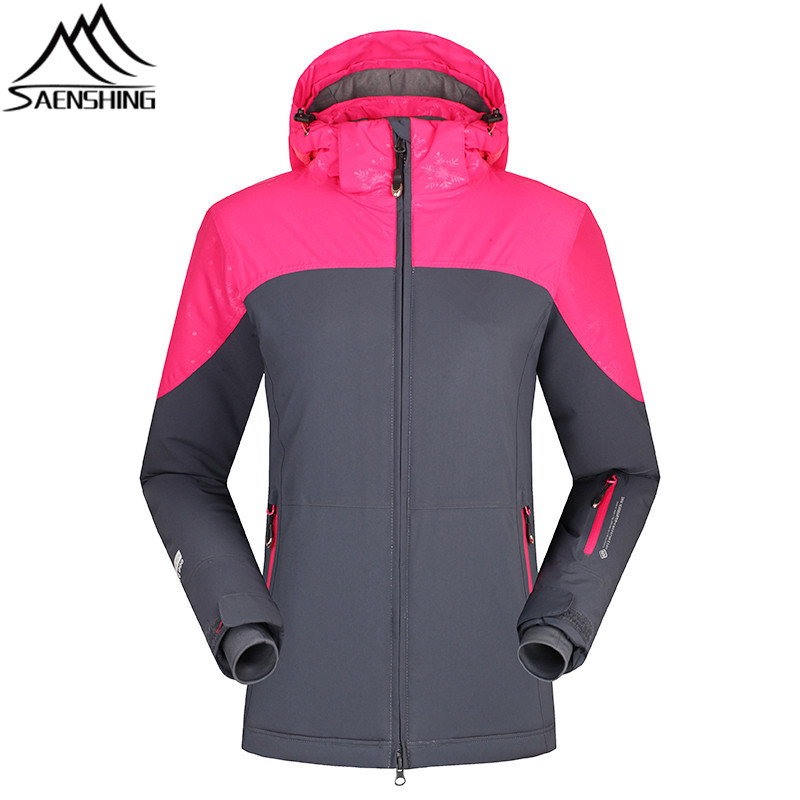 SAENSHING Snowboard Jacket Women Waterproof Ski Jacket Super Warm Breathable Winter Snow Jackets Ladies Outdoor Skiing Coat Girl freestyle skiing ladies aerial qualification pyeongchang 2018 winter olympics