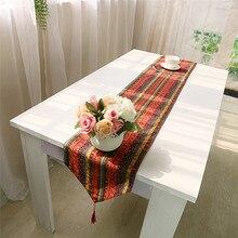 Cubierta corredor de la tabla para la decoración del hogar del estilo de bohemia de algodón de lino mantel tea table cloth comedor bandera de mesa de la vendimia de bohemia