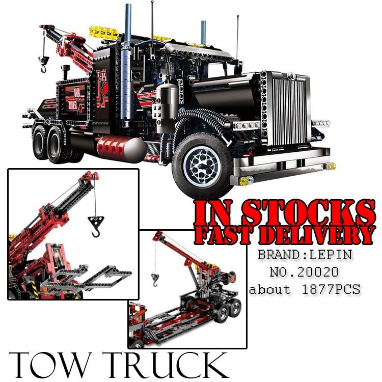 LEPIN 20020 technic series 1877pcs The American heavy container trucks Model Building blocks Bricks Compatible Toy 8285 цена и фото