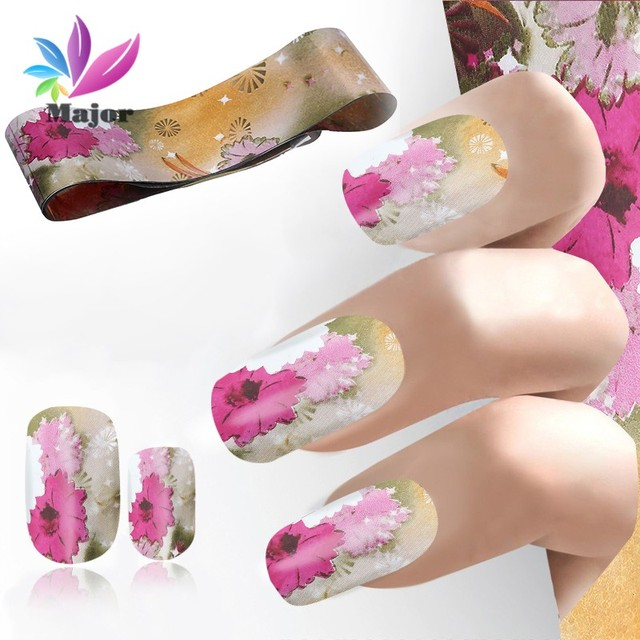 100cmx4cm NEW Dreamy Pattern Nail Foil Polish Glue Transfer Stickers ...