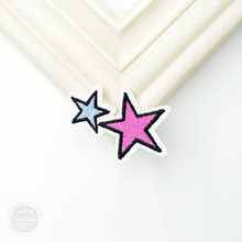 1 piezas estrella (tamaño: 4,5X3,4 cm) insignias de tela para manualidades parches para decorar pantalones vaqueros bolsa ropa costura decoración apliques(China)
