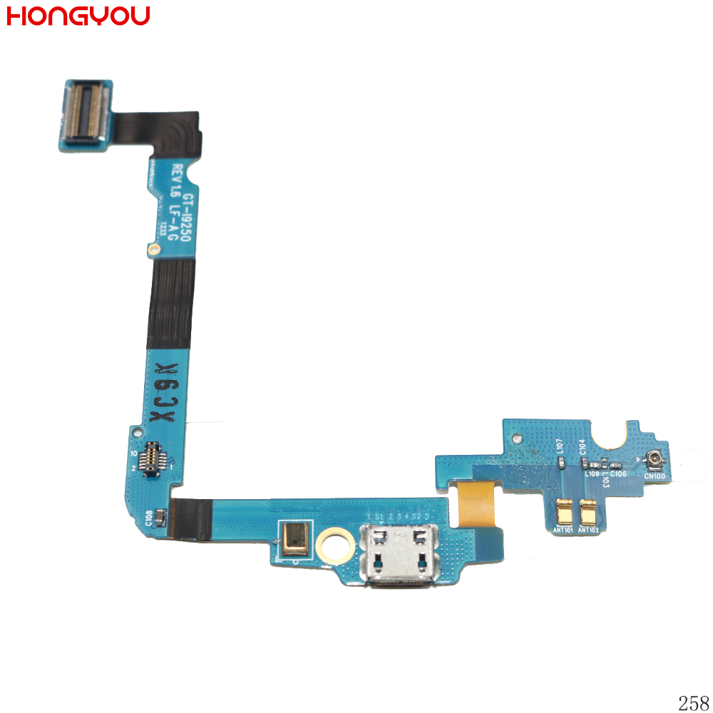 USB Charging Port Connector Charge Dock Jack Plug Flex Cable With Microphone For Samsung Galaxy Nexus I9250 GT-I9250