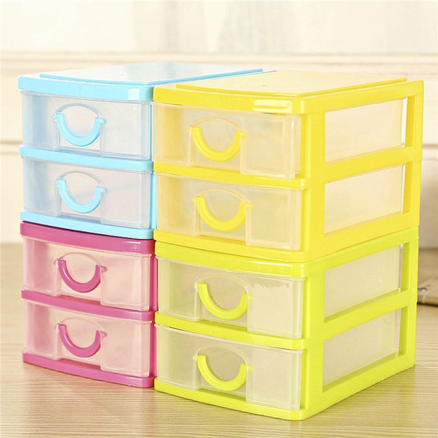Captivating Hot Portable 2 Layers Mini Desktop Drawer Storage Box Sundries Case Small  Objects Box Wholesale Desktop