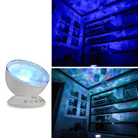 Newest Baby Led Night Light Ocean Waves Starry Sky Projector With Remote Control Novelty Lamp For Kids JD9