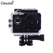 Cewaal Экшн-камера 1080P HD съемка Водонепроницаемая цифровая видеокамера COMS сенсор Широкоугольный объектив камера для плавания и дайвинга