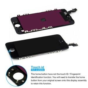 Image 2 - Dla iPhone 5s wyświetlacz LCD z ekranem dotykowym Digitizer zgromadzenie A1453 A1457 A1518 A1528 A1530 A1533 nie martwy piksel czarny biały