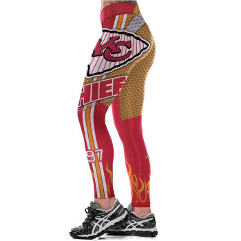Unisex Football Team Chiefs 97 Print Tight Pants Workout Gym Training Running Yoga Sport Fitness Exercise Leggings Dropshipping