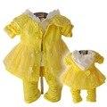 Anlencool 2017 nueva primavera y otoño informal de tres piezas de envío gratis baby girl dress dress trajes traje de los bebés sistemas de la ropa