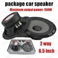 Costo del paquete genuino 6.5 pulgadas de altavoces del automóvil un par de precios de 2 vías 2x150 W altavoz de audio estéreo de automóvil los más vendidos