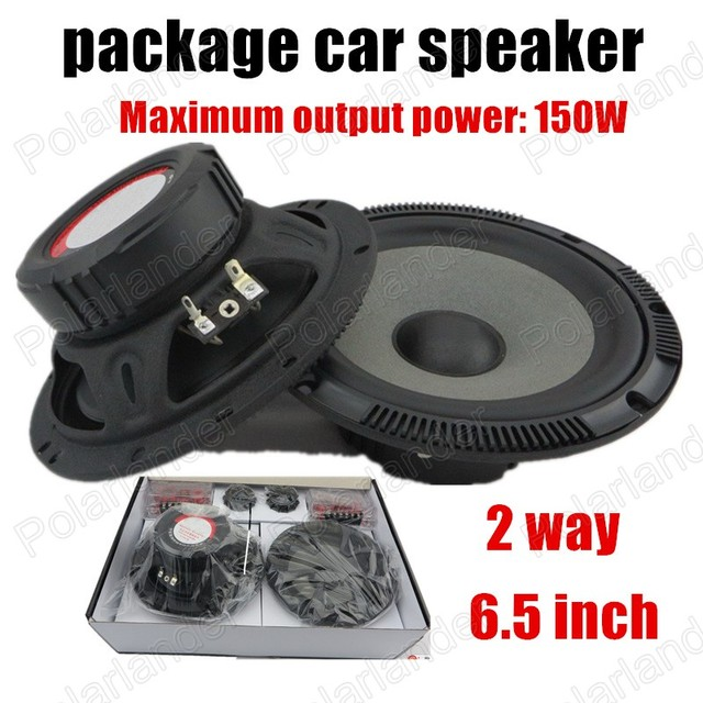 Genuine 6.5 inch car speaker package cost one pair price 2 way 2x150W car stereo audio speaker best selling