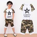 2016 summer children's sets New 2-7 age little boys clothing sets fashion modal boys shirts + pants