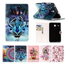 Kefo T377 case Painted PU Leather Case Flip cover For Samsung Galaxy Tab E 8.0 T377 T377V SM-T377 T375 Tablet accessories KF418D