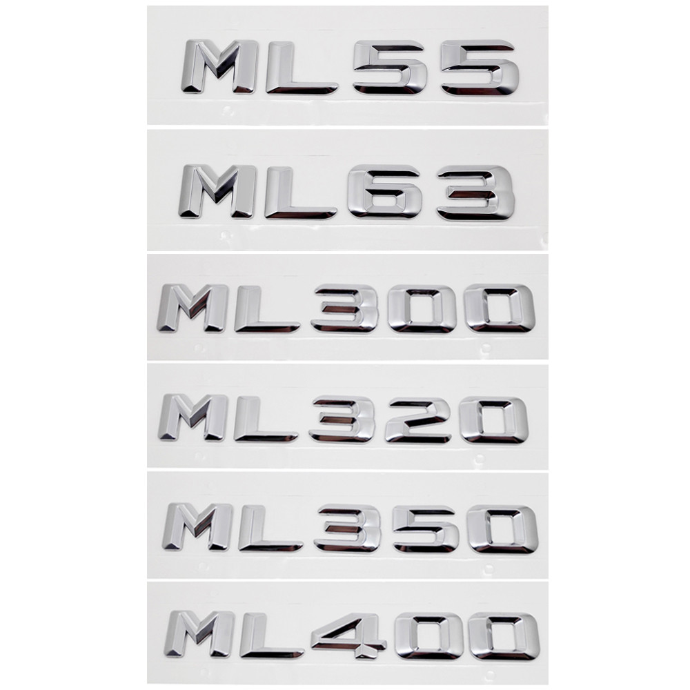 For Benz ML Class Metal Chrome Tail Sticker for Mercedes W164 <font><b>W163</b></font> W167 W168 AMG ML320 ML350 ML430 Car Trunk Emblem Decoration image