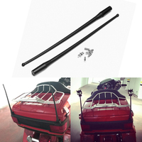 High Quality 2pcs 14 Inch Black Antenna For 1989 2017 Harley Davidson Touring Electra Road