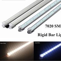 SMD 7020 светодиодный свет бар DC12V 50 см 36 светодиодный жёсткая планка + U Стильный чехол Холодный/теплый белый чистый белый