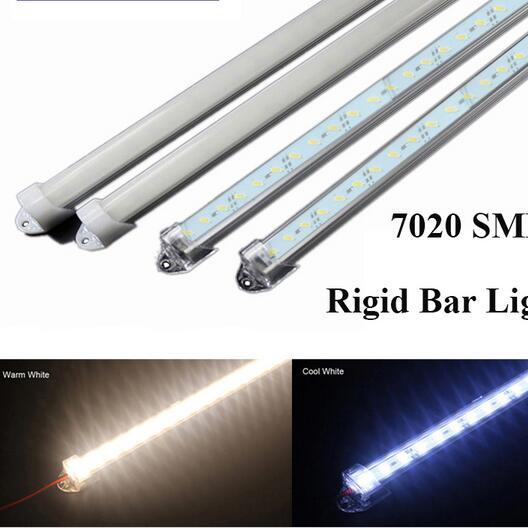 SMD 7020 LED Bar Light DC12V 50CM 36led Hard Rigid Strip Light+U Style Shell Cool Warm Pure white