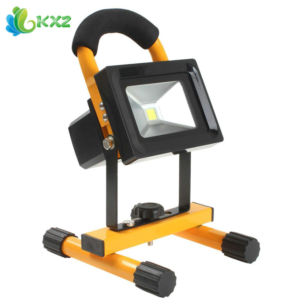ФОТО 10W Rechargeable LED Work Light Floodlight Portable Outdoor Waterproof IP65 LED Flood Light Lamp Worklight for Camping Hiking