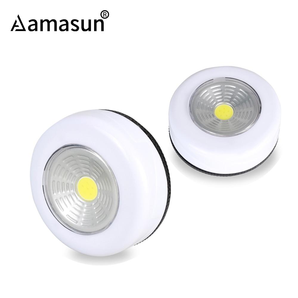 Led Bulb Lamp Under Cabinet Lights Nightlight Touch Control Sensor Furniture Cupboard Kitchen Wardrobe Drawer No Battery 3* AAA Under-cabinet lighting