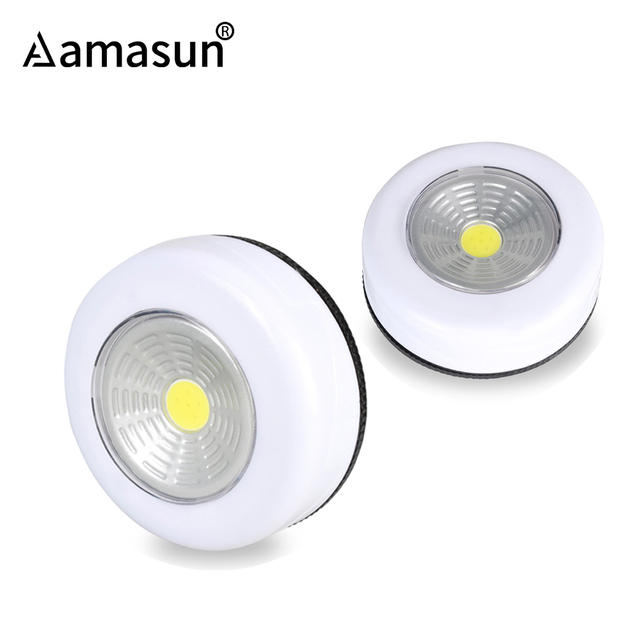 Led Bulb Lamp Under Cabinet Lights Nightlight Touch Control Sensor  Furniture Cupboard Kitchen Wardrobe Drawer No Battery 3* AAA