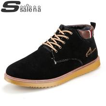 Hot selling men winter loafers men warm casual flats shoes fashion PU plush wither shoes #C006