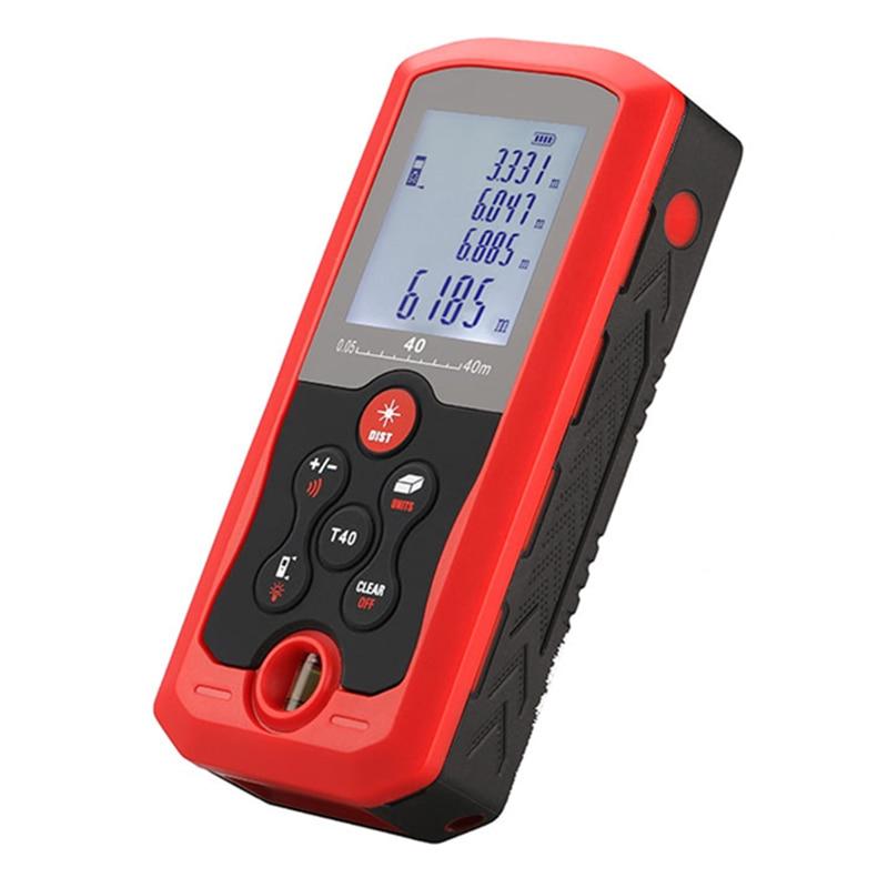 FJS skaitmeninis lazerinis atstumo matuoklis IP54, atsparus dulkėms, 40M rankiniai elektroniniai nuotolio matuokliai