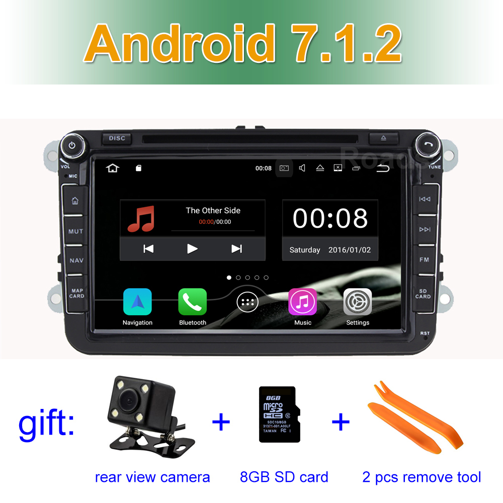 2 GB RAM Android 7.1 Car DVD Player for VW Passat CC Scirocco Golf 5/6 Tiguan Touran Polo Sharan Jetta Toledo WiFi BT GPS joying px5 octa 8 core 2gb ram android 8 0 car radio player for vw golf 5 6 polo passat jetta tiguan touran eos gps navigation