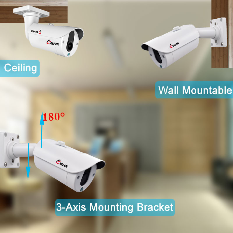 Keeper 1080P Mini Surveillance AHD Camera Sony IMX323 Camera 25M Night Vision CCTV Camera IR Outdoor Waterproof Security Camera