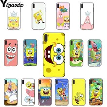Yinuoda SpongeBob SquarePants Sponge Bob Best Friends TPU black Phone Case Shell for iPhone 8 7 6 6S Plus 5 5S SE XR X XS MAX