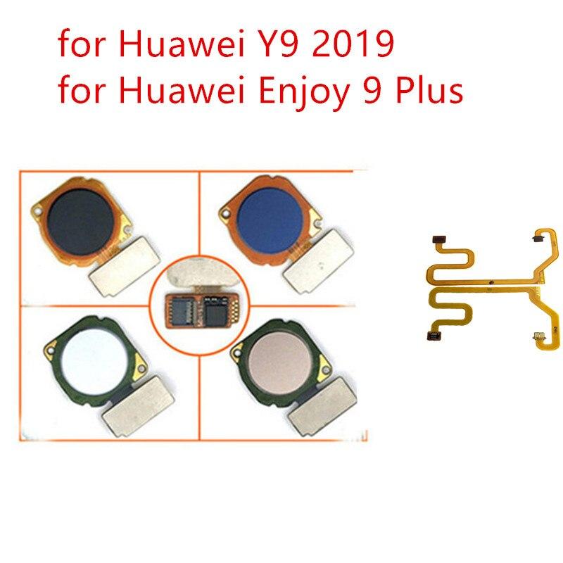 For Huawei Y9 2019/ Enjoy 9 Plus Fingerprint Key Scanner Home Button Flex Cable Touch ID Sensor Return Flex Cable Repair Parts