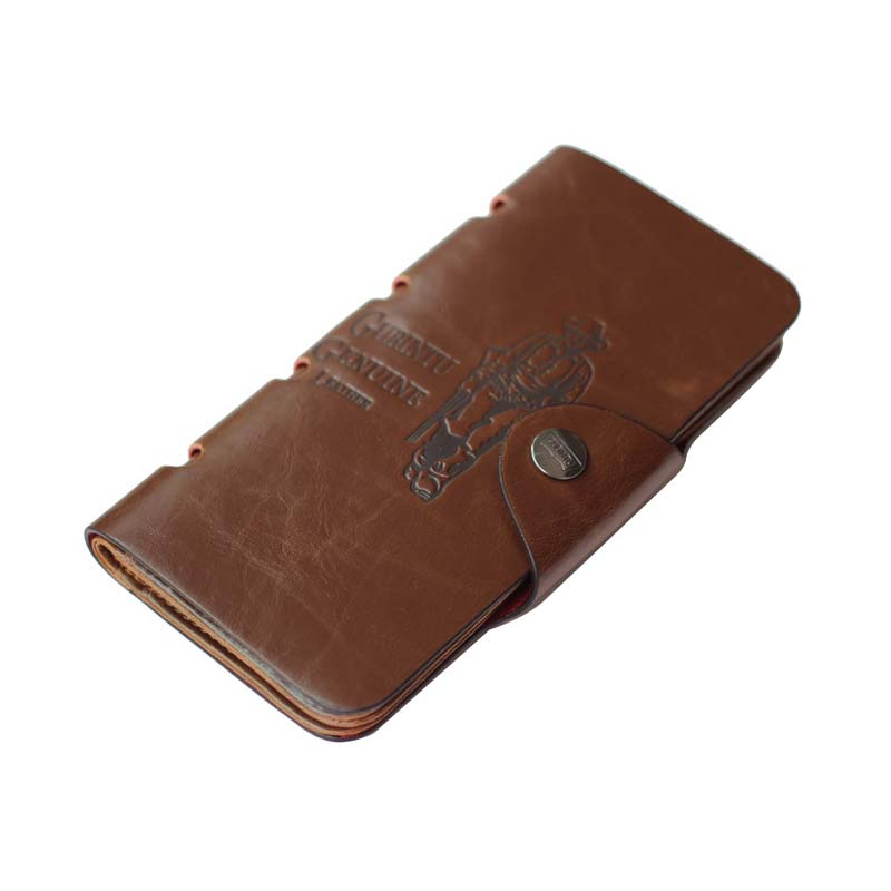 New Arrival Vintage Men Hunter Letters Long Brown PU Leather Wallet Purse Card Holder Clutch Wallets Gifts Popular new arrival 2017 wallet long vintage man wallets soft leather purse clutch designer card holders business handbags clips