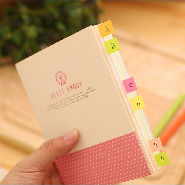 Q45 3X Kawaii Mini Sticky Pads Book Memo Stickers Self Adhesive Message Label Decor Student Stationery School Office Supply