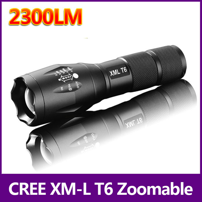 Big Promotion Ultra Bright CREE XML T6 LED Flashlight 5 Modes 2300 Lumens Zoomable LED Torch Free shipping 93 sitemap 93 xml