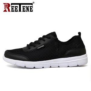 Image 3 - REETENE 2019 hommes chaussures été baskets maille chaussures hommes décontractées mode confortable chaussures plates pour homme Tenis Feminino Zapatos grande taille