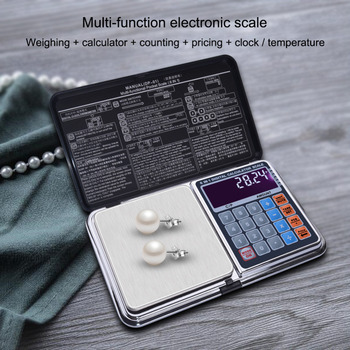 Nowy LCD Digital High Precision 6 w 1 wielofunkcyjny waga jubilerska kalkulator 0 1G-500g 1000g 0 01G-100g 200g 300g 500g tanie i dobre opinie 2*AAA include 0 1 500G TSC01306 yieryi Pocket scale 15*15*5CM 0 01-500g