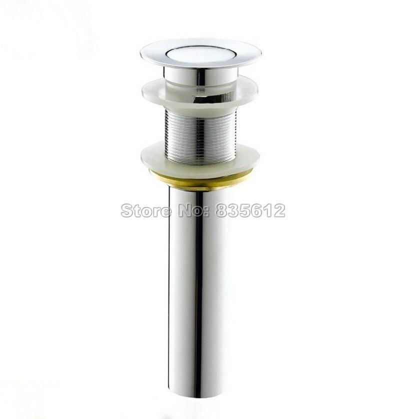 Polished Chrome Brass Pop Up Bathroom Sink Basin Waste / Drain Without Overflow Wsd043  смеситель tera polished brass 512590 blanco