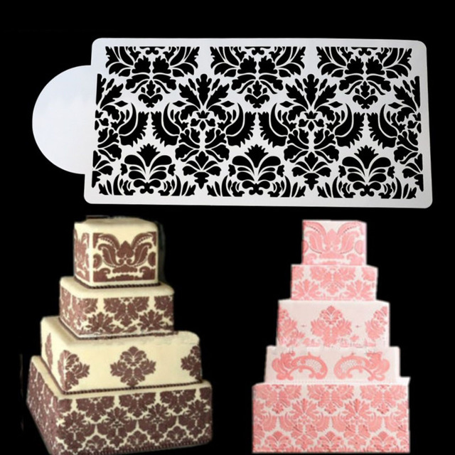 Cake Stencil Fondant Molds Flower Form Decorations Tools Pastry Spray Template For Wedding Decorating
