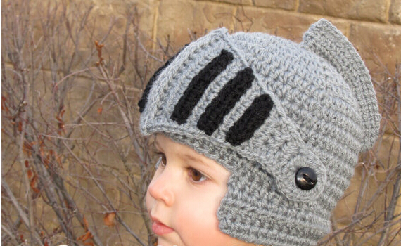Free Shipping Children Cute Roman knight hat Boy And Gril Warm Winter Novelty Crochet Knit Mask