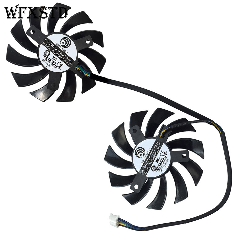 New Original Cpu Cooling Fan For MSI R6850 R6870 R6790 460GTX 560GTX 570GTX 580GTX Brushless Cooler Radiators PLD08010S12HH 75mm pld08010s12hh graphics video card cooling fan 12v 0 35a twin for frozr ii 2 msi r6790 n560gtx r6850 n460gtx dual cooler fan