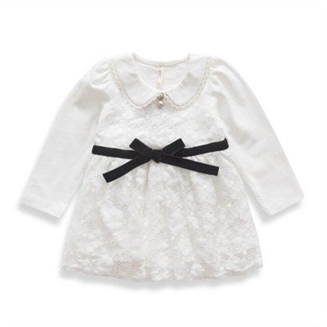 Осень девочки платье ну вечеринку хлопок кружево Inant новорожденный девочка платье девочка одежда малыша крещение платья 0-2yrs